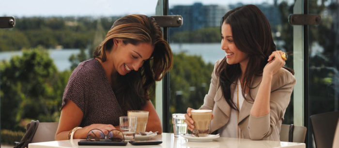девушки за кофе
